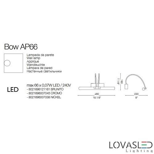 Ideal Lux Bow AP66 Cromo képmegvilágító 46cm