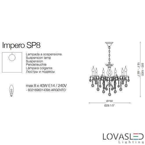 Ideal Lux Impero SP8 8 ágú csillár