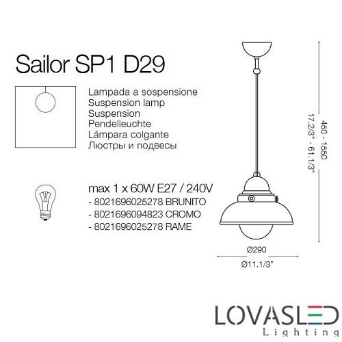 Ideal Lux Sailor SP1 D29 Rame függeszték