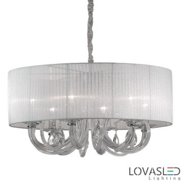 Ideal Lux Swan SP6 Bianco csillár