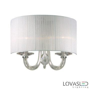 Ideal Lux Swan AP2 Bianco oldalfali lámpa