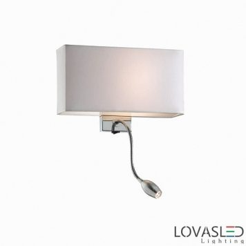 Ideal Lux Hotel Bianco AP2 fali lámpa olvasókarral