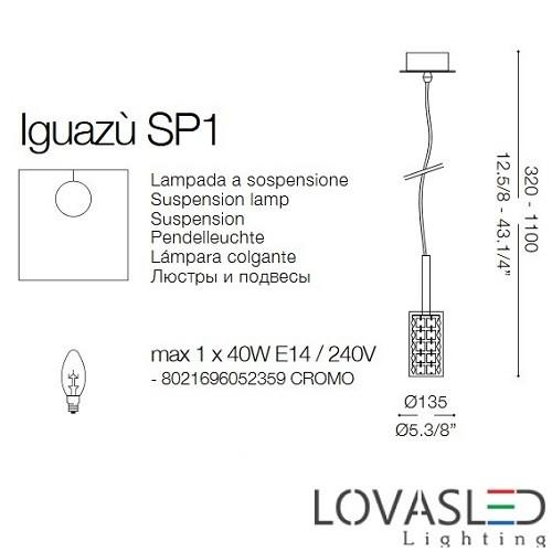 Ideal Lux Iguazú SP3 függeszték