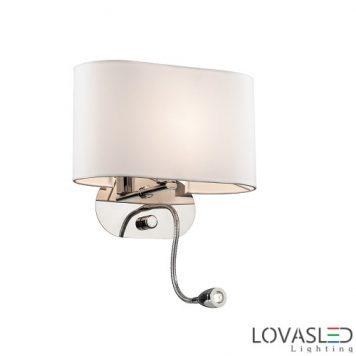Ideal Lux Sheraton AP2 Bianco fali lámpa olvasókarral