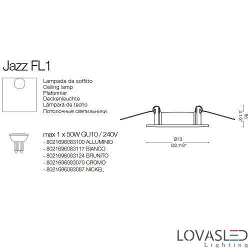 Ideal Lux Jazz FI1 Bianco spot keret