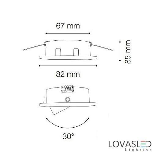 Ideal Lux Swing FI1 Brunito billenthető spot keret