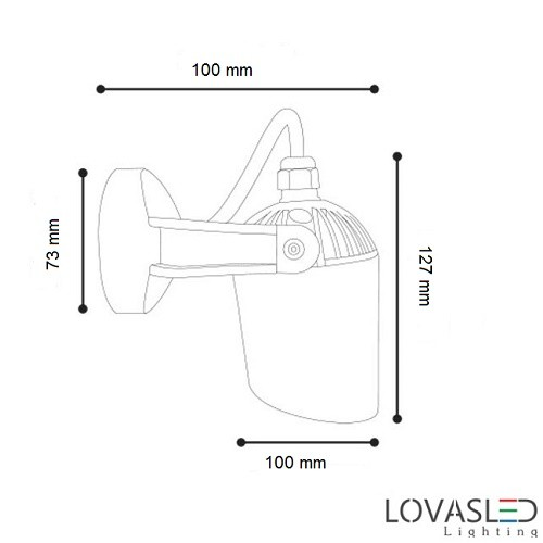 Ideal Lux Minitommy AP1 Nero falikar kültéri lámpa