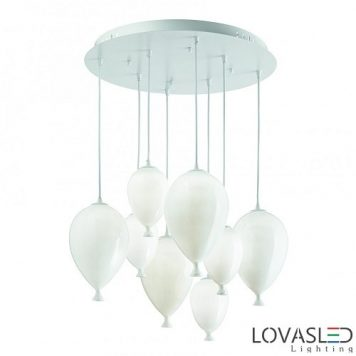 Ideal Lux Clown SP8 Bianco függeszték