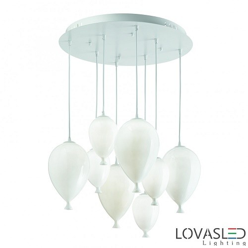 Ideal Lux Clown SP8 Bianco függeszték