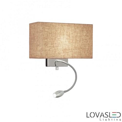 Ideal Lux Kronplatz  AP2 fali lámpa olvasókarral