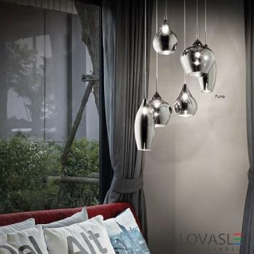 Ideal Lux Soft SP6 Fumé pendant