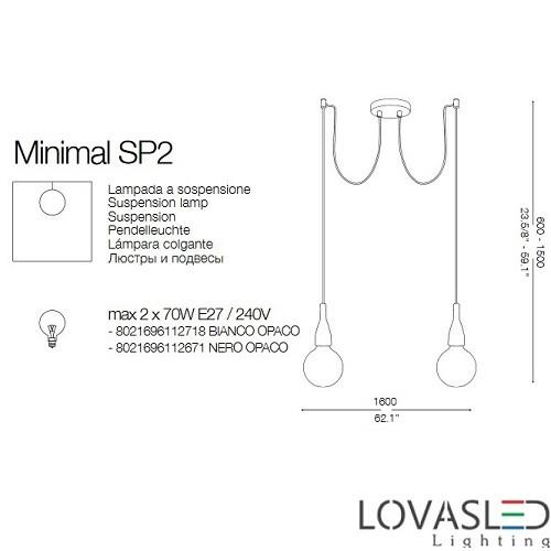 Ideal Lux Minimal SP2 Nero függeszték