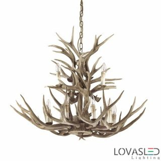 Ideal Lux Chalet SP12 chandelier with 12 arms