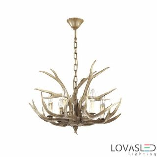 Ideal Lux Chalet SP6 chandelier with 6 arms