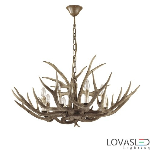 Ideal Lux Chalet SP8 chandelier with 8 arms