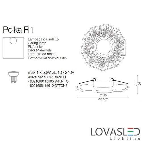 Ideal Lux Polka FI1 Brunito spot keret