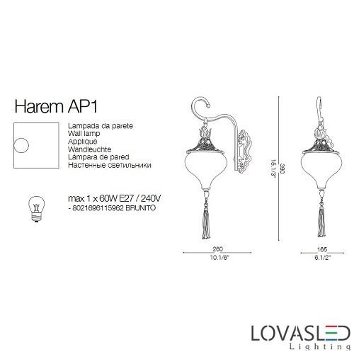 Ideal Lux Harem AP1 falikar