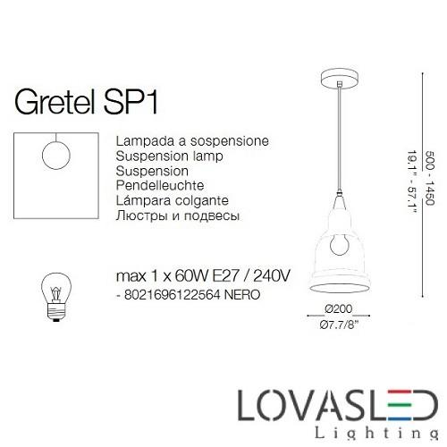 Ideal Lux Gretel SP1 függeszték