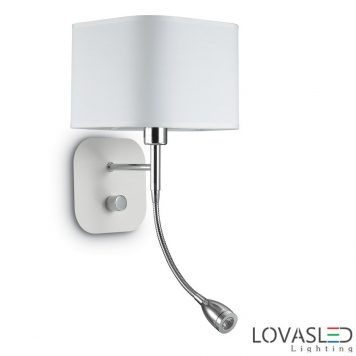 Ideal Lux Holiday AP2 Bianco fali lámpa olvasókarral