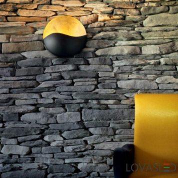 Ideal Lux Sunrise AP3 Nero Oro oldalfali lámpa