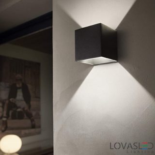 Ideal Lux Rubik AP1 Nero kültéri lámpa