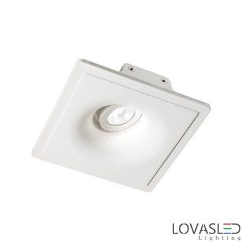 Ideal Lux Zephyr FI1 gypsum tiltable downlight