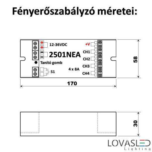 4 csatornás fényerőszabályzó  2501NEA