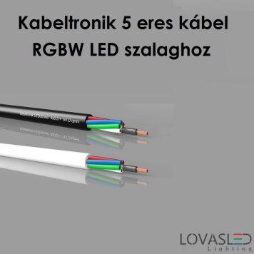 Kabeltronik 5 fibers cabel RGBW for LED strip