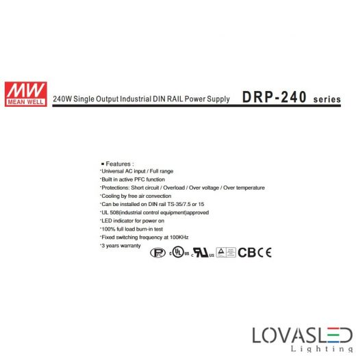 Mean Well DRP-240-48