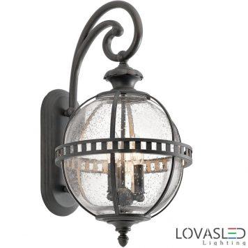 Elstead Halleron 3x60W kültéri oldalfali lámpa