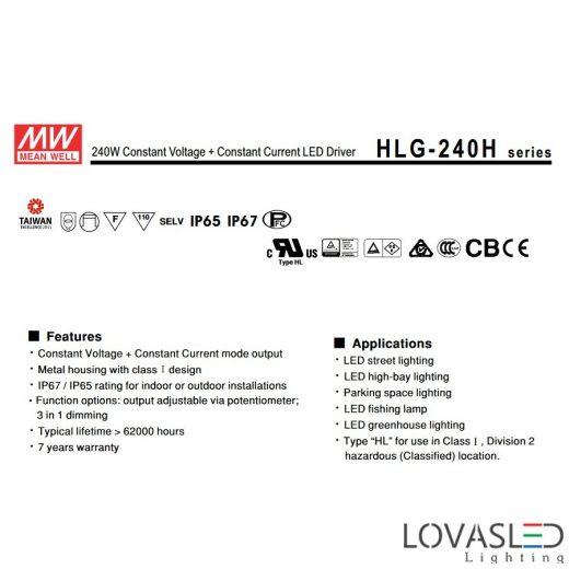 Mean Well HLG 240W 48V