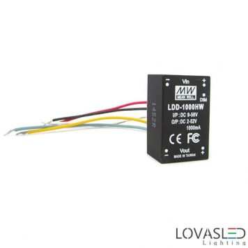 Mean Well LDD-1000HW, 1000mA, 52W, DC/DC tápegység
