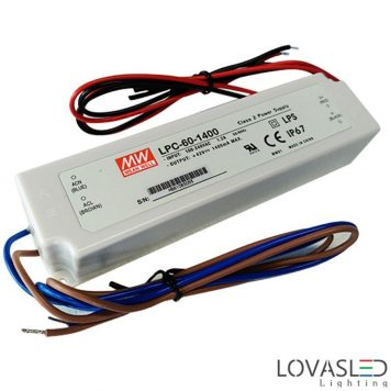 Mean Well LPC-60-1400, 60W, 1400mA, 9-42V