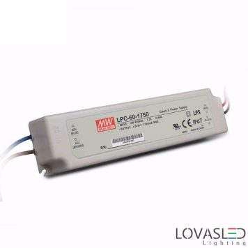 Mean Well LPC-60-1750, 60W, 1750mA, 9-34V