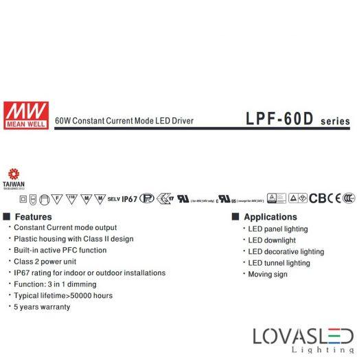 Mean Well LPF 60W 42V