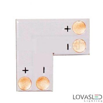 Fehér 8mm-es LED szalaghoz derékszögű nyomtatott áramkör