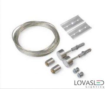 Set for hanging for aluminium profile