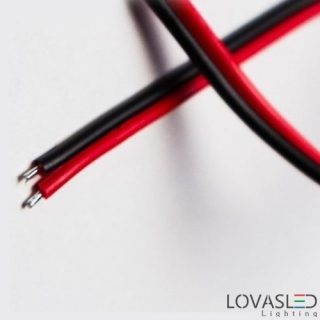 Red-black 2 fibers cable for LED strip installation