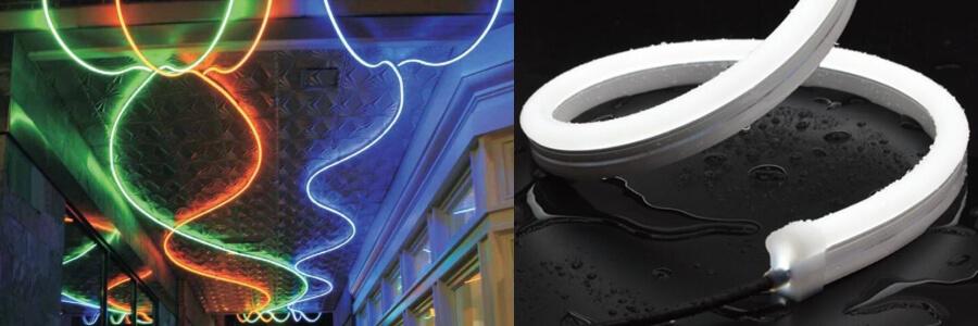 Kültér homlokzat UV-álló neon szalag világítás