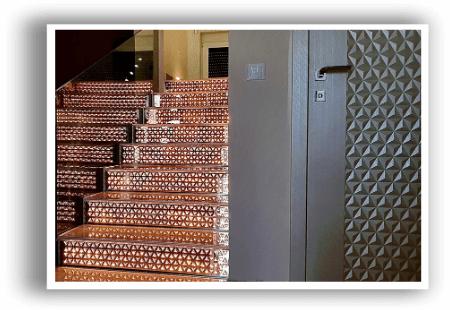 Lépcső világítás Swarovski kristályokkal