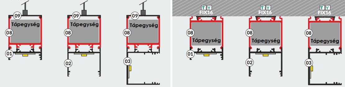 Vario ALU LED szalag profil felszerelése